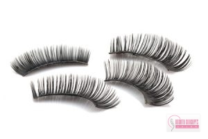 eyelash extensions, false use eyelashes isolated on white backgrund